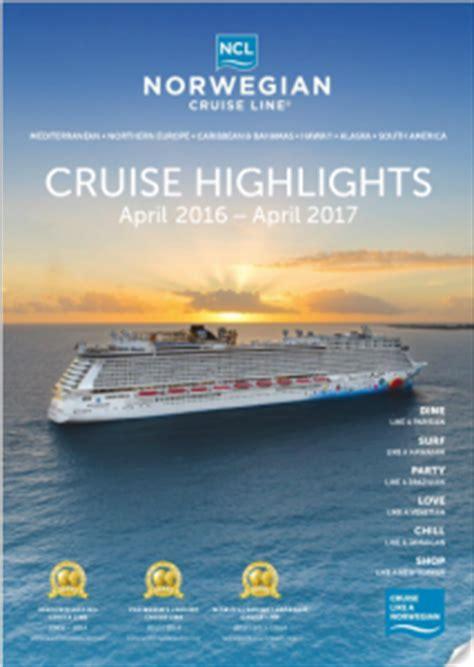 norwegian cruise brochure norwegian cruise line launches cruise highlights brochure