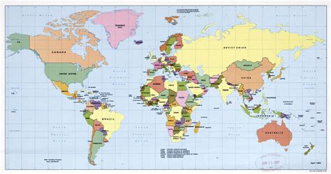 large scale political map   world  world