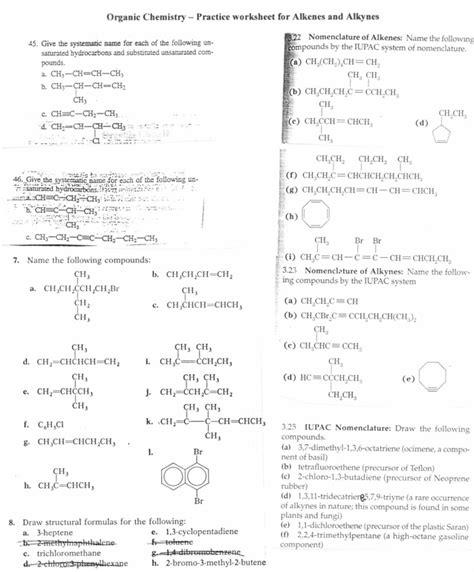 naming alkenes worksheet answers alvinmatias2 s blog