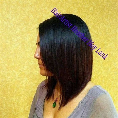 how to cut angle inverted bob with razor long inverted bob razor cut style worth having