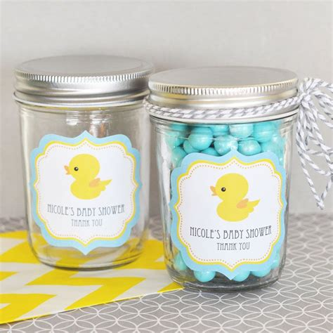 baby shower rubber sts rubber ducky personalized mini jars jars baby