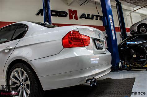 e90 bmw 328i bmw performance exhaust install photos
