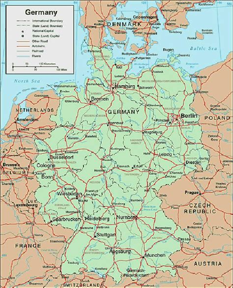 germany map and surrounding countries map of germany and surrounding countries