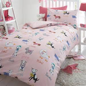 Debenhams Duvet Bluezoo Kids Pink Dogs Duvet Cover And Pillow Case Set