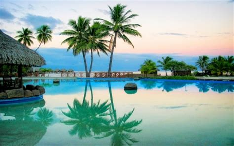 tropical pool beaches nature background wallpapers