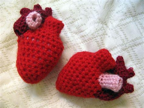 crochet pattern anatomical heart crocheted anatomical heart human body pinterest