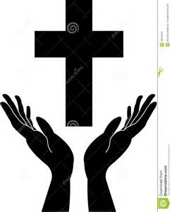 More similar stock images of cross and praying careing hand