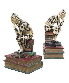 libro look at the harlequins frankart large bookends scottie dogs ca1930s american art deco