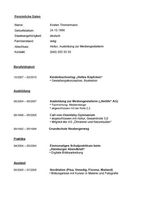 Tabellarischer Lebenslauf Nach Abi Bewerbung Lebenslauf Abitur Ausbildung Berufserfahrung