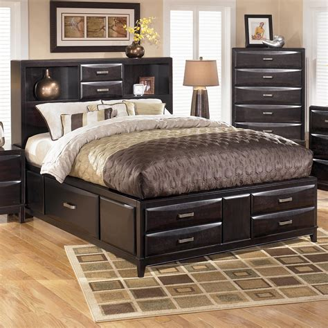ashley furniture kira queen storage bed john  schultz furniture captains beds