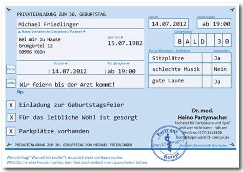 Rezept Design Vorlage privat rezept einladungskarten f 252 r geburtstag karte