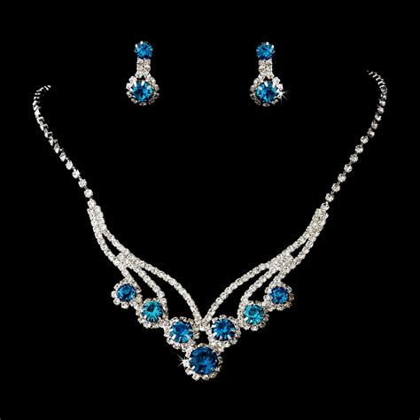 treasure necklace earrings set bridal