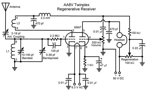 circuit schematic the aa8v twinplex regenerative receiver schematic