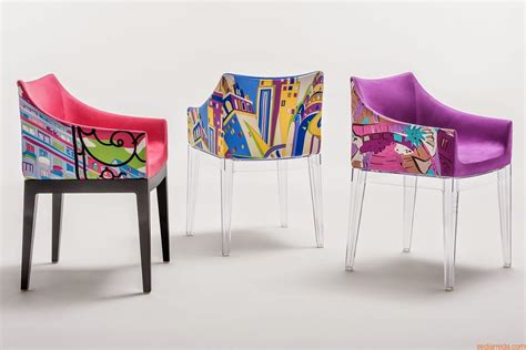 kartell fauteuil mademoiselle madame pucci edition kartell design armchair world of emilio pucci edition padded with legs