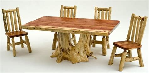 cedar log bench wood furniture pinterest log furniture red cedar log dining table with root base custom sizes available muebles