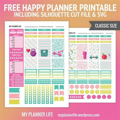 happy healthy life printable planner 43 best images about exercise on pinterest chocolate