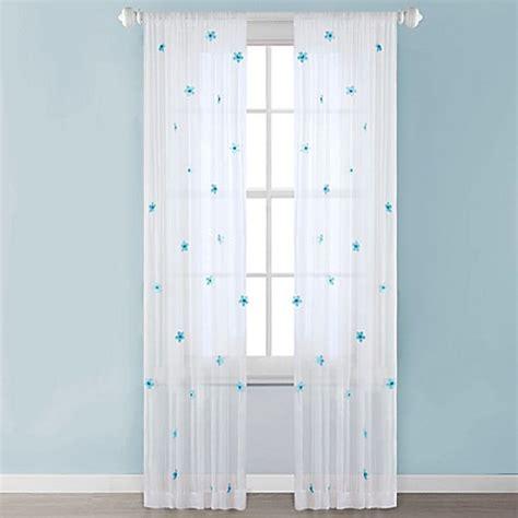 kids sheer curtains buy mi zone kids lilly 63 inch rod pocket sheer window