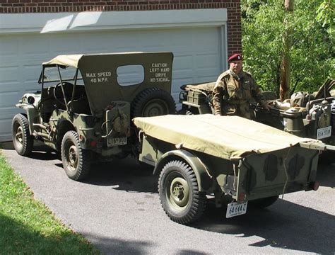military jeep trailer jeep willy s bantam trailer jeeps pinterest
