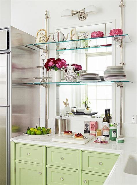 kitchens with shelves green best 25 glass shelves ideas on pinterest