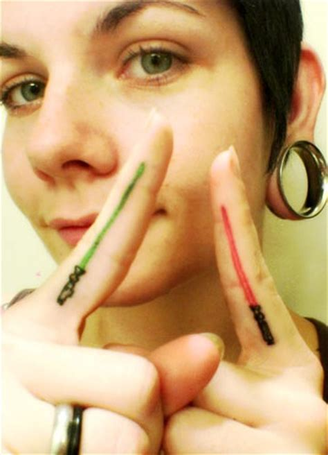 lightsaber finger tattoo lightsaber finger tattoos gearfuse