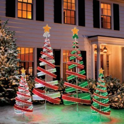 out door ribbon spursl trees razzle dazzle them with our marvelous light spiral trees outdoor