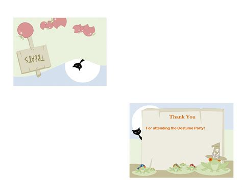 quarter fold thank you card template cards office