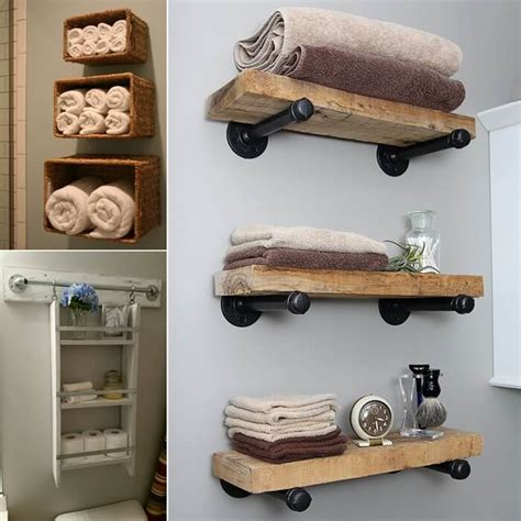 Diy Bathroom Shelves 15 Diy Bathroom Shelving Ideas That Can Boost Storage