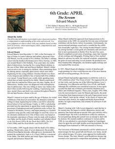 teaching a biography lesson plan edvard munch biography goodbye art academy art history