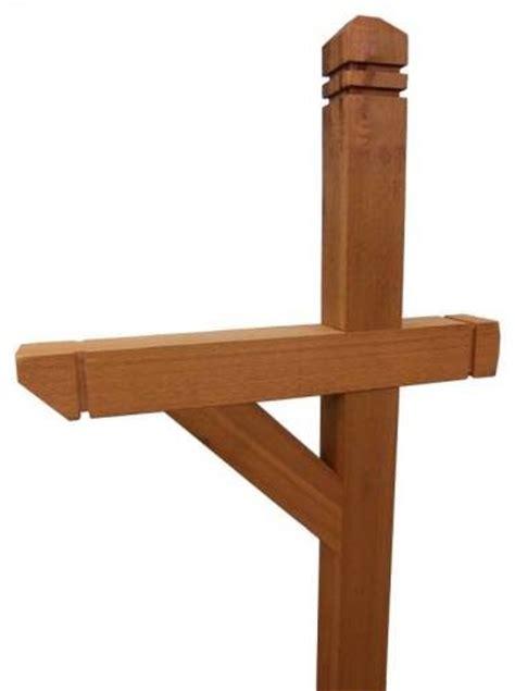 wood l post designs decorative cedar wood mailbox post 4x4 wilray designs