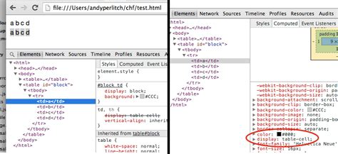 css tutorial display table html chrome specific css issue setting table cell to