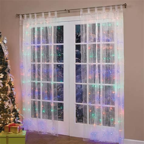 lighted christmas curtain panels 84 quot lighted pre lit christmas light window panel curtains