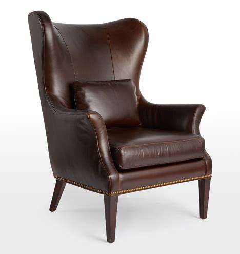 clinton modern wingback chair rejuvenation clinton modern wingback italian leather chair with