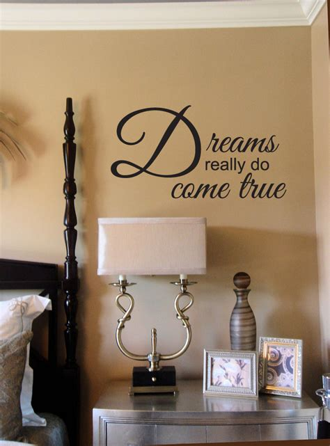 do wall stickers come dreams really do come true wall decal trading phrases