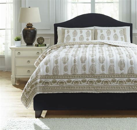 beige coverlet almeda beige king coverlet set from ashley q726013k
