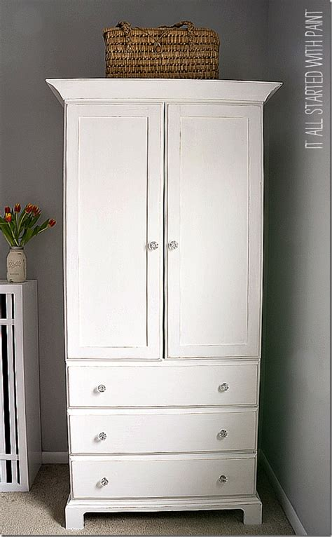 pure white annie sloan chalk paint tm chalk paint by white painted armoire it all started with paint