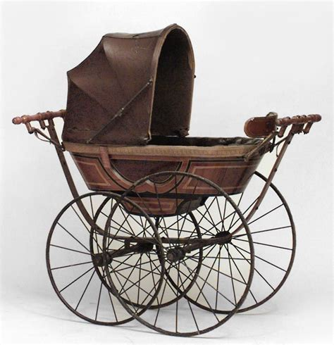 English Victorian Misc Furniture Baby Carriage Crib Baby Carriage Crib