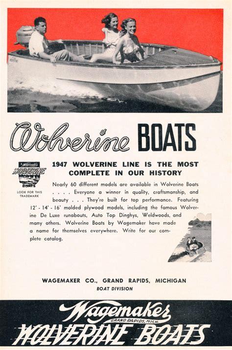 sears jon boat history the wagemaker company builder of wolverine boats both