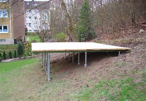 terrasse ohne fundament gartenhaus fundament st 252 tzen my