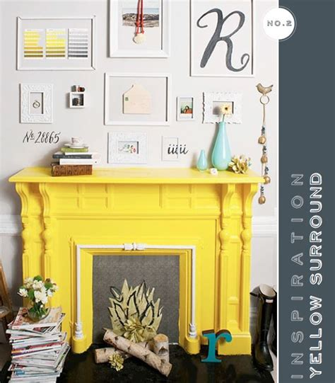 yellow fireplace bright yellow fireplace so kool pop of yellow