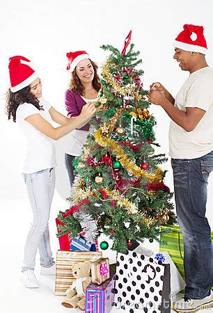 decorating christmas tree stock image image 16646371