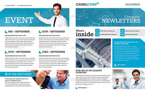 20 Premium Newsletter Printing Templates Executive Newsletter Template