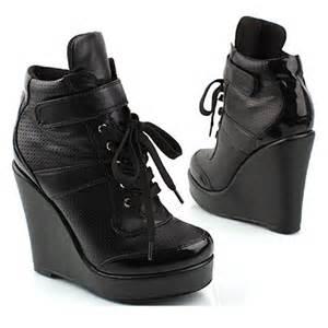 black high heel wedge sneakers black womens wedge high heel sneaker shoes all 4 7 inch