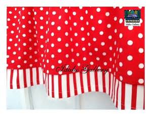 Polka Dot Kitchen Curtains Cherry And White Stripe And Polka Dot By Idahogallery