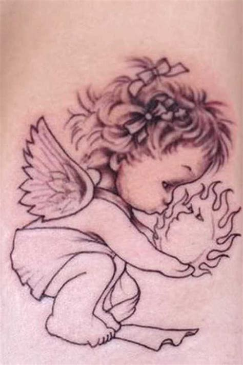 31 superb baby angel tattoos and designs