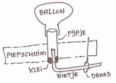 bootje maken dat kan varen knutselidee ballonboot die zelf vaart