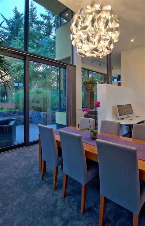 Contemporary Crystal Dining Room Chandel Contemporary Contemporary Lighting For Dining Room