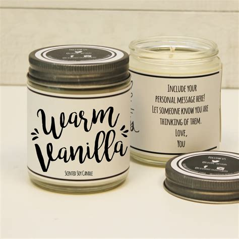 unique scented candles warm vanilla scented candle 8 oz candle gift unique