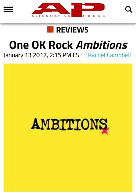 Raglan Ambitions One Ok Rock 海外記事翻訳 alternative press電子版が ambitions を大絶賛 chaosmyth one ok rock fan