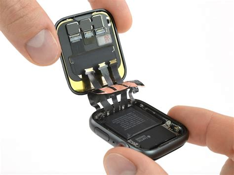 Apple Series 2 4 by Apple Series 4 Teardown 20 Less Battery Capacity Barometric Sensor And