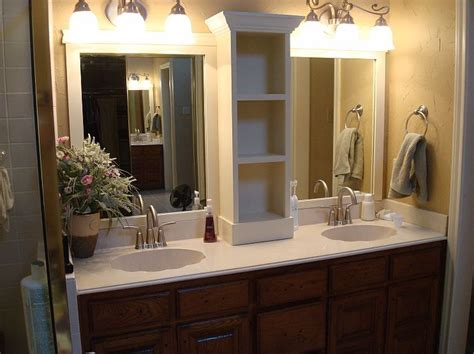 double wide bathroom mirror classic double wide mirror pottery barn attractive